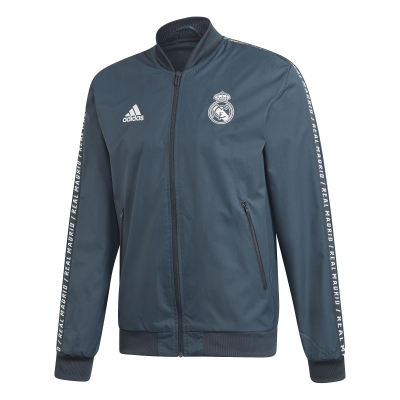 REAL MADRID PRESENTATION ANTHEM BLUE JACKET  2018-19