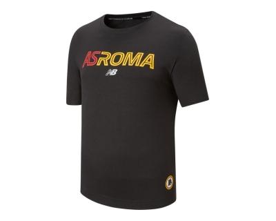 AS ROMA BLACK T-SHIRT 2021-22