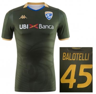BRESCIA MAGLIA BALOTELLI AUTENTICA GARA VERDE 2019-20