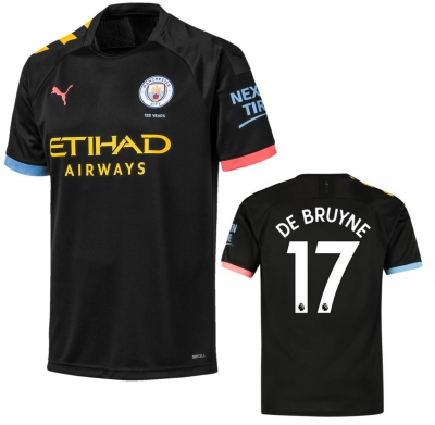MANCHESTER CITY DE BRUYNE JUNIOR AWAY BLACK SHIRT 2019-20