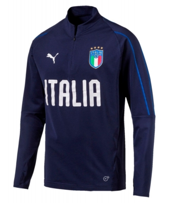 ITALIA FIGC FELPA ALLENAMENTO BLU 2017-19