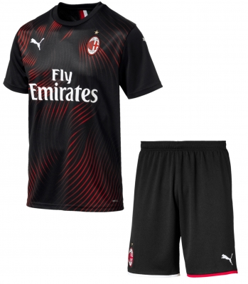 AC MILAN JUNIOR 3RD BLACK KIT 2019-20