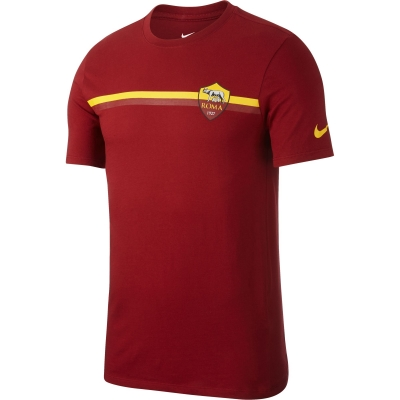 AS ROMA T-SHIRT RIGATA ROSSA 2018-19