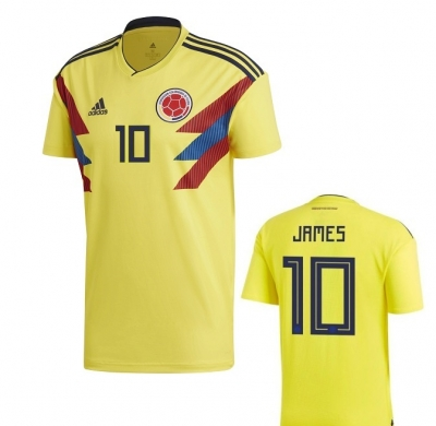 COLOMBIA JAMES JUNIOR HOME SHIRT 2017-19