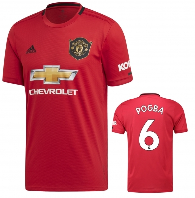 MANCHESTER UNITED POGBA HOME SHIRT 2019-20