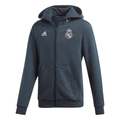 REAL MADRID JUNIOR HOODY FULL ZIP SWEAT 2018-19