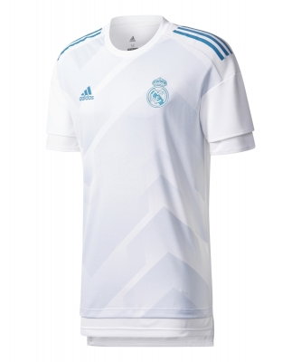 REAL MADRID JUNIOR PREMATCH SHIRT 2017-18