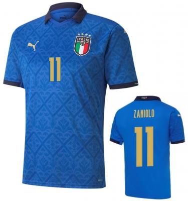 ITALIA FIGC ZANIOLO JUNIOR HOME SHIRT 2020-21