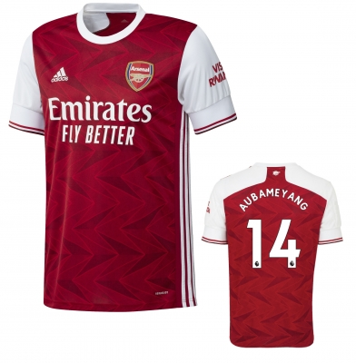 ARSENAL AUBAMEYANG JUNIOR HOME SHIRT 2020-21