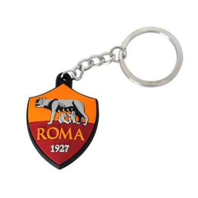 AS ROMA PORTACHIAVI LOGO IN GOMMA