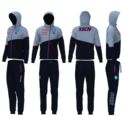 SSC NAPOLI JUNIOR POLY HOODED TRACKSUIT 2020-21
