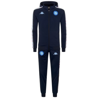 SSC NAPOLI EUROPA LEAGUE POLY HOODY TRACKSUIT 2020-21