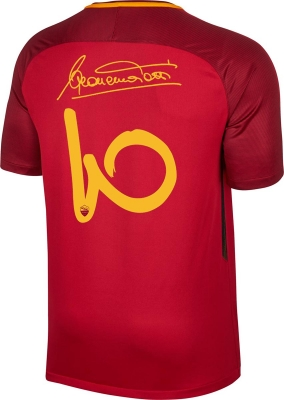 AS ROMA TOTTI CAPITANO HOME SHIRT 2017 limited edition