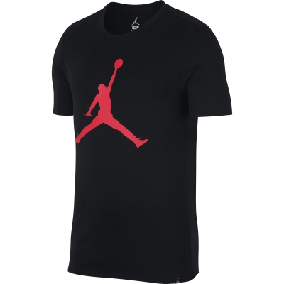 JORDAN LOGO BLACK-RED T-SHIRT