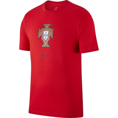 PORTUGAL LOGO RED T-SHIRT 2020-21