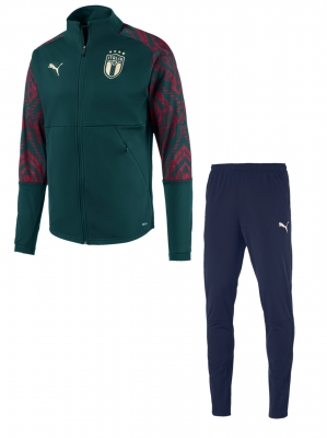 ITALIA FIGC PRESENTATION GREEN TRACKSUIT 2019-20