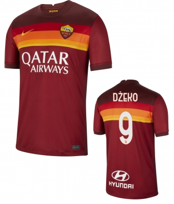 AS ROMA DZEKO HOME SHIRT 2020-21