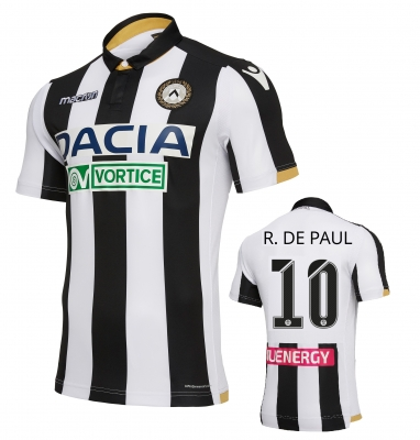 UDINESE DE PAUL AUTHENTIC MATCH HOME SHIRT 2018-19