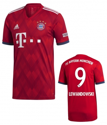 BAYERN MUNICH LEWANDOWSKI HOME SHIRT 2018-19
