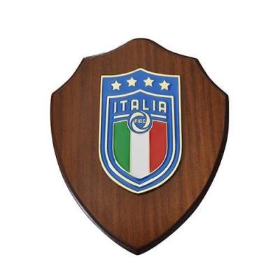 ITALIA FIGC CREST in LEGNO