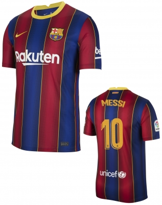 BARCELONA MESSI JUNIOR HOME SHIRT 2020-21