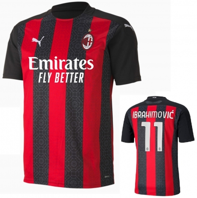 AC MILAN IBRAHIMOVIC JUNIOR HOME SHIRT 2020-21