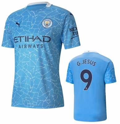 MANCHESTER CITY GABRIEL JESUS JUNIOR HOME SHIRT 2020-21