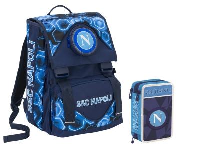 SSC NAPOLI ZAINO + ASTUCCIO 3 ZIP 2019-20