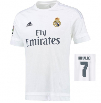 REAL MADRID RONALDO HOME SHIRT 2015-16