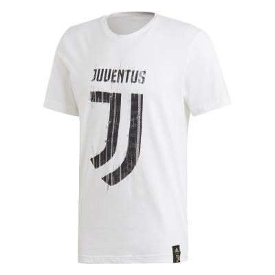 JUVENTUS LOGO WHITE T-SHIRT 2018-19