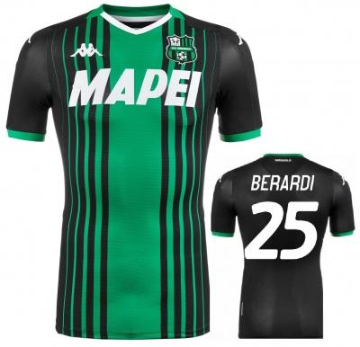 SASSUOLO MAGLIA BERARDI AUTENTICA GARA HOME 2019-20