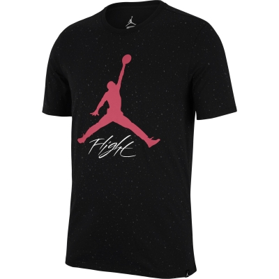 JORDAN LOGO FLIGHT BLACK T-SHIRT