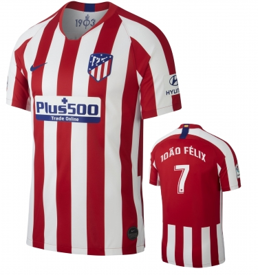 ATLETICO MADRID JOAO FELIX JUNIOR HOME SHIRT 2019-20