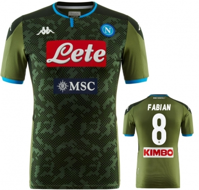 SSC NAPOLI AUTHENTIC MATCH FABIAN AWAY SHIRT 2019-20