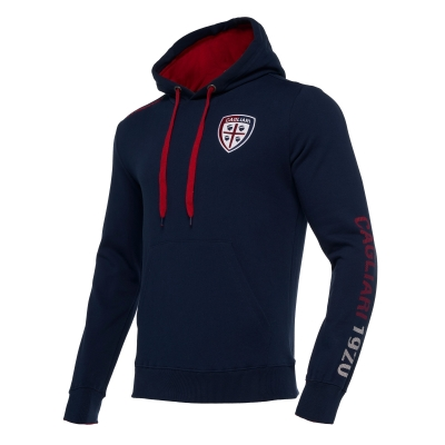 CAGLIARI NAVY HOODY SWEAT 2018-19