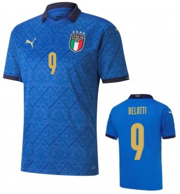 ITALIA FIGC BELOTTI JUNIOR HOME SHIRT 2020-21