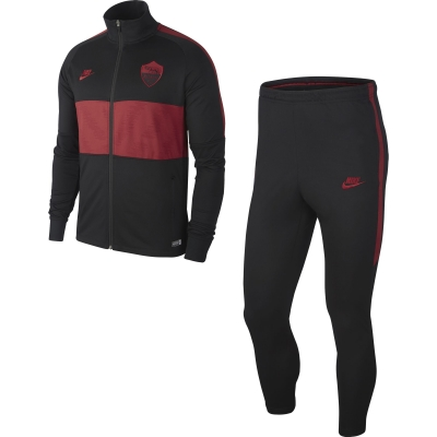 AS ROMA JUNIOR BLACK-RED TRACKSUIT 2019-20