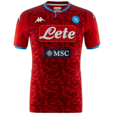 SSC NAPOLI AUTHENTIC RED GOALKEEPER SHIRT 2019-20