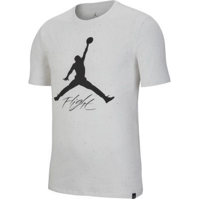 JORDAN T-SHIRT LOGO FLIGHT BIANCA