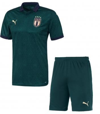 ITALIA FIGC JUNIOR 3RD GREEN KIT 2019-20