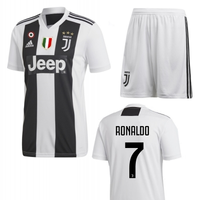 JUVENTUS RONALDO JUNIOR HOME KIT 2018-19