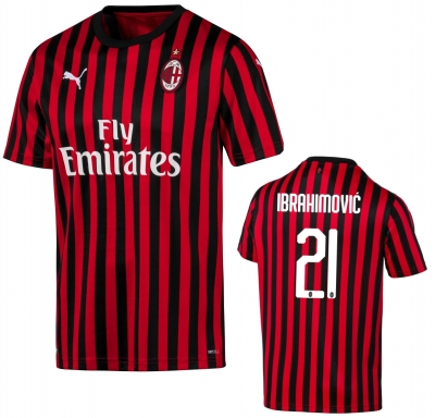 AC MILAN IBRAHIMOVIC JUNIOR HOME SHIRT 2019-20