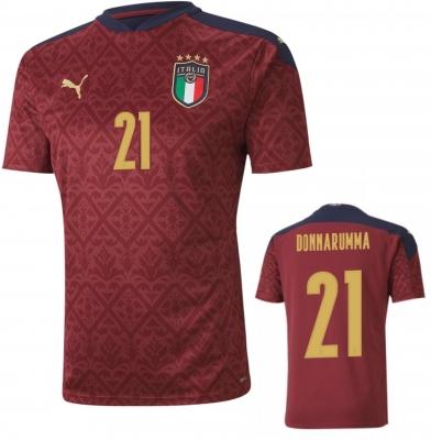 ITALIA FIGC DONNARUMMA GOALKEEPER RED SHIRT 2020-21