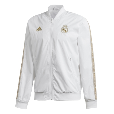 REAL MADRID ANTHEM PRESENTATION WHITE JACKET 2019-20