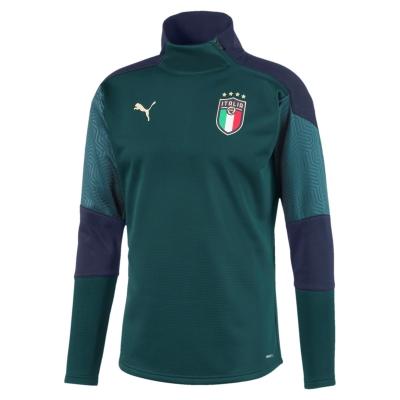 ITALIA FIGC FELPA FLEECE ALLENAMENTO VERDE 2019-20