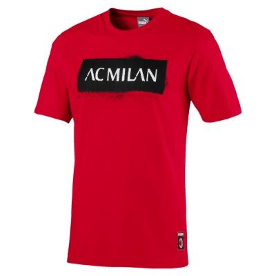 AC MILAN T-SHIRT ROSSA STENCIL 2018-19
