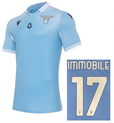 SS LAZIO IMMOBILE AUTHENTIC HOME MVP SHIRT 2020-21