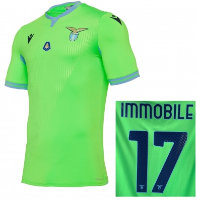 SS LAZIO IMMOBILE MVP AUTHENTIC MATCH AWAY SHIRT 2020-21
