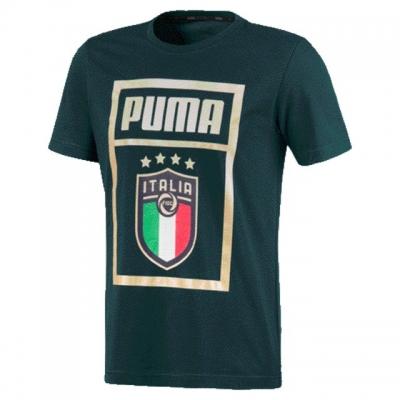 ITALIA FIGC T-SHIRT FAN LOGO VERDE 2019-20