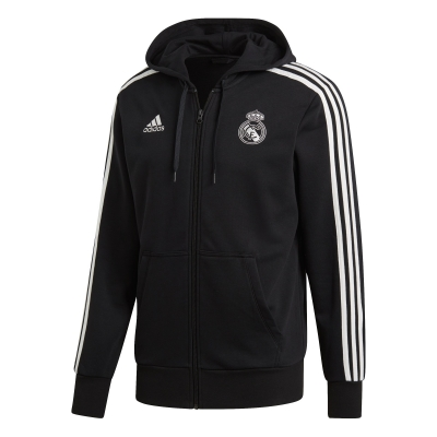 REAL MADRID FULL ZIP HOODY SWEAT 2018-19